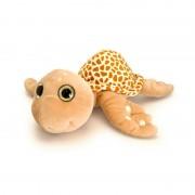 Broscuta Testoasa de plus cu ochi stralucitori Keel Toys, 30 cm, Brown, 3 ani+