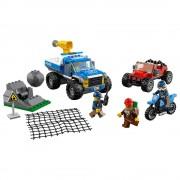 Lego caza en la terracería lego city police 60172