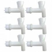 Pachet 6 bucati - Robinet pentru butoi Robineti cu garnitura si piulita.