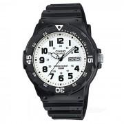 Reloj analogo de los hombres de CASIO MRW-200H-7BVDF - negro + blanco (sin la caja)