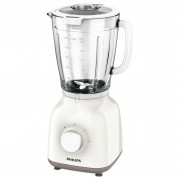 Blender Philips Daily Collection HR2105/00, 400 W, 1.25 l, 2 Viteze, Functie impuls, Alb