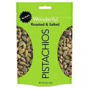 Wonderful Pistachios . Sin Cascara. Tostados. Salados. Bolsa resellable 170 g. Maravillosos Pistachos.