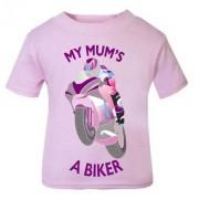 D-My Mum is a biker motorcycle toddler baby childrens kids t-shirt 100% cotton