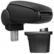 [pro.tec]® Lakťová opierka pre Hyundai i30 (2007 – 2012) - lakťová opierka - s odkladacím priestorom - tkanina - čierna