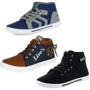 Bersache Men/Boys Combo pack of 3 Casual Sneakers Shoes