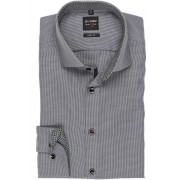 OLYMP Level Five Body Fit Hemd schwarz, Faux-uni