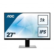 AOC gecontroleerde oorsprongsbenaming u2777pqu AOC 68,6 cm (27 inch) monitor (IPS, DVI, HDMI, DisplayPort, USB, 3840 x 2160, 60 Hz, 4 MS, Pivot, UHD) Zilver