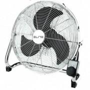Подов вентилатор Elite EFF-0444, 90 W, 3 метални перки, 3 скорости на работа, Черен