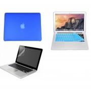 Case Carcasa + Protector De Teclado / Pantalla Para Macbook Pro 13'' Sin Touch Bar Model (A1708) -Azul Aqua