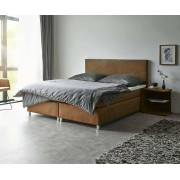 DELIFE Boxspring-bed Cloud 160x200 cm bruin topper en matras