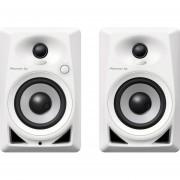 """Pioneer DM40W Monitores Activos, DJ, Bajas Frecuencias, Reflex Frontal Graves, Woofer 4"""", RCA"""