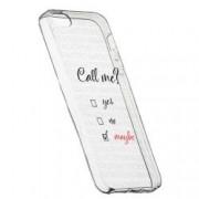 Husa Silicon Transparent Slim Call Me 149 Apple iPhone 5 5S SE