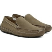Clarks Ashmont Step Tan Nubuck Loafers For Men(Brown)