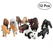TOYMYTOY 12pcs Plastic Forest Animal Figure Realistic Animals Model Figure Toy Early Education Cognitive Toys (Assorted)