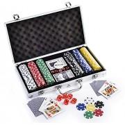 100/200/300/500/1000 Pcs Poker Chips Set with Aluminium Case , Multicolor by Krasa (500Pcs)