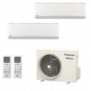 Panasonic Condizionatore Dual Split Gas R-32 Serie Z Etherea Bianco 7000+7000 Btu CU-2Z50TBE WiFi Opzionale A+++/A++