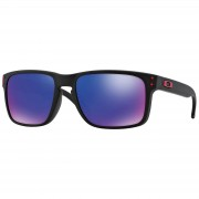 Oakley Holbrook Sunglasses - Matte Black/Red