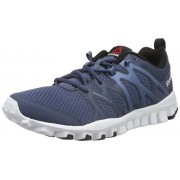 Reebok Men's Realflex Train 4.0 Royal, Slate, White and Black Multisport Training Shoes - 11 UK/India (45.5 EU)(12 US)