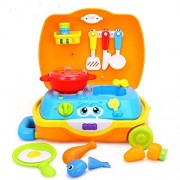 Advanced Play little Chef kids Cooking set toy for toddlers pretend play for boys and girls with music and sounds, kitchen set includes play chefs toys Stove, Utensils, Toy meals, and food!!