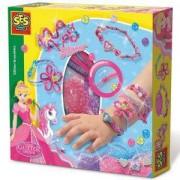 Детски комплект Направи си сам - Гривни с брокат SES, 080953