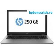 "Laptop HP 250 G6 (Procesor Intel® Core™ i5-7200U (3M Cache, up to 3.10 GHz), Kaby Lake, 15.6"" FHD, 8GB, 256GB SSD, Intel® HD Graphics 620, Wireless AC, Argintiu)"