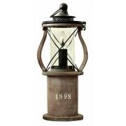 1898 bordslampa brun