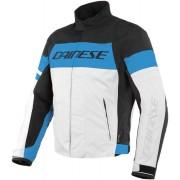 Dainese Saetta D-Dry Motorcycle Textile Jacket Black White Blue 46