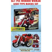 Toy-Station - Super Hero Lego Type Blocks (Wonder Woman Motorcycle)