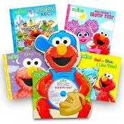 Sesame Street Books Elmo Book Super Set for Toddlers- 5 (Deluxe Board with Cd and 4 Storybooks)