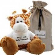 Funnies Knuffel Giraf 45 cm Wil jij mijn meter worden