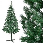 [en.casa]® Изкуствена коледна елха с изкуствен сняг и стойка - 180 см.