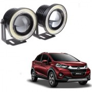 Auto Addict 3.5 High Power Led Projector Fog Light Cob with White Angel Eye Ring 15W Set of 2For Honda WRV