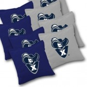 XAVIER MUSKETEERS Cornhole Bags SET of 8 Officially Licensed ACA REGULATION Baggo Bean Bags ~ Made in the USA