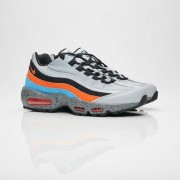 Nike Air Max 95 Premium Wolf Grey/Safety Orange/University Blue