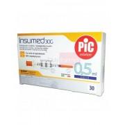 Artsana Pic Insumed 0,5ml 30g - 30 Siringhe Per Insulina Con Lente Di Ingrandimento