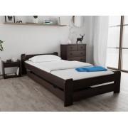 Emily ágy 120x200 cm, diófa Matrac: Economy 10 cm matraccal, Ágyrácsok: Ágyács nélkül