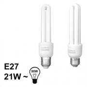 Verlichting E27 Spaarlamp Buis 21W T4 Koud