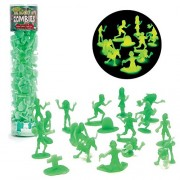 Zombie Action Figures - Big Bucket of 100 Glow in the Dark Zombies - Includes Zombies, Zombie Pets,