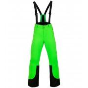 ALPINE PRO NUDD 4 Pánské lyžařské kalhoty MPAM311563 Neon zelená L