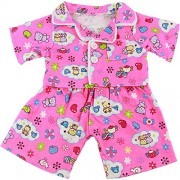 Be My Bear Pink Cute Teddy Pyjamas Pjs Outfit Clothes / Fits 8-10 inch (25Cm) Bears
