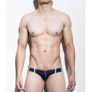 Mategear Ran Kwang Flat Front Reduced Sides Series II Extremely Sexy Mini Boxer Brief Underwear Navy 1091202