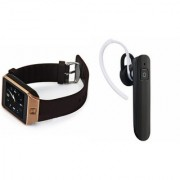 Mirza DZ09 Smartwatch and HM1100 Bluetooth Headphone for SONY xperia ray(DZ09 Smart Watch With 4G Sim Card Memory Card| HM1100 Bluetooth Headphone)