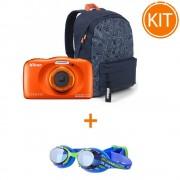 Kit Nikon Coolpix W150 Aparat Foto Subacvatic Orange + Ochelari Inot Nabaiji XBase JR