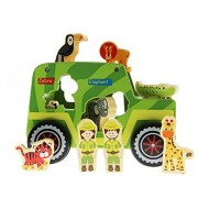 Safari Truck Toy For Boys & Girls - Wooden Shape Sorter For Kids & Toddlers - Educational Zoo Animal Toy For 18 months & Up