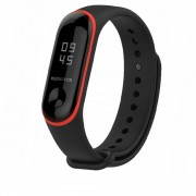 Curea silicon Tech-Protect Smooth Xiaomi Mi Band 3/4 Black/Red
