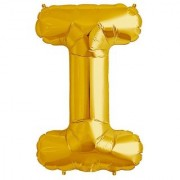Stylewell 16 Inch Alphabet (I) Soild (Golden) Color 3D Foil Balloons For Birthday And Anniversary Parties Decoration