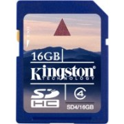 Kingston 16 GB SDHC Class 4 20 MB/s Memory Card