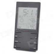 """HTC-2S alta precision 3.4 """"LCD higrometro electronico / termometro w / calendario + reloj despertador-negro"""