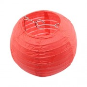 20Cm Red Toogoo R 10 Pcs Hanging Paper Lanterns for Wedding Decorations(Red