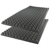 "Acoustic Foam Sound Absorption Pyramid Studio Treatment Wall Panel, 48"" X 24"" X 2"" (2 Pack)"